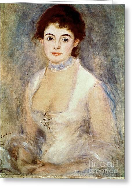 1876 Greeting Cards - Renoir: Madame Henriot Greeting Card by Granger