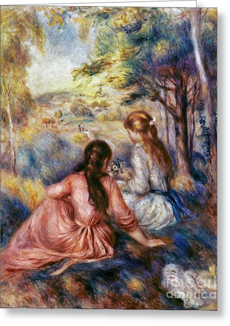 Renoir Greeting Cards - RENOIR: MEADOW, c1890 Greeting Card by Granger