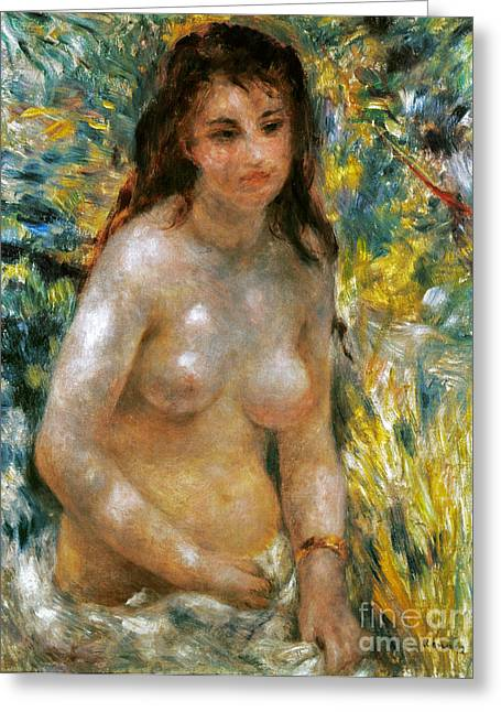 1876 Greeting Cards - RENOIR: TORSO, c1876 Greeting Card by Granger