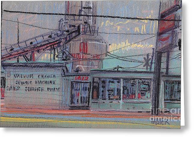 Repaired Pastels Greeting Cards - Repair Shop Greeting Card by Donald Maier