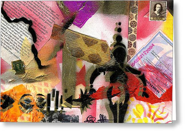 Slavery Greeting Cards - Reparations #605 - 2015 Greeting Card by Everett Spruill