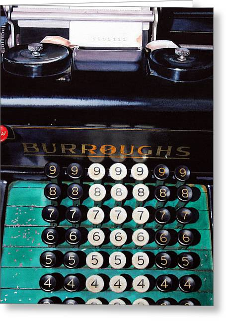 Typewriter Greeting Cards - Repeat Greeting Card by Denny Bond