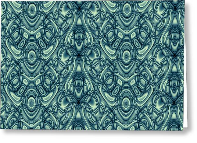 Algorithmic Abstract Greeting Cards - Repeating Patterns No. 11 Greeting Card by Mark Eggleston