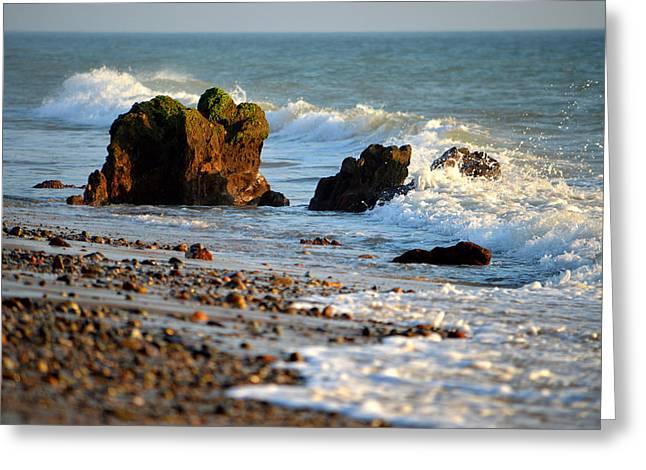 New England Ocean Greeting Cards - Food For The Soul Greeting Card by Dianne Cowen