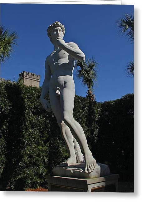 Michelangelo Greeting Cards - Replica Of David Greeting Card by Denise Mazzocco