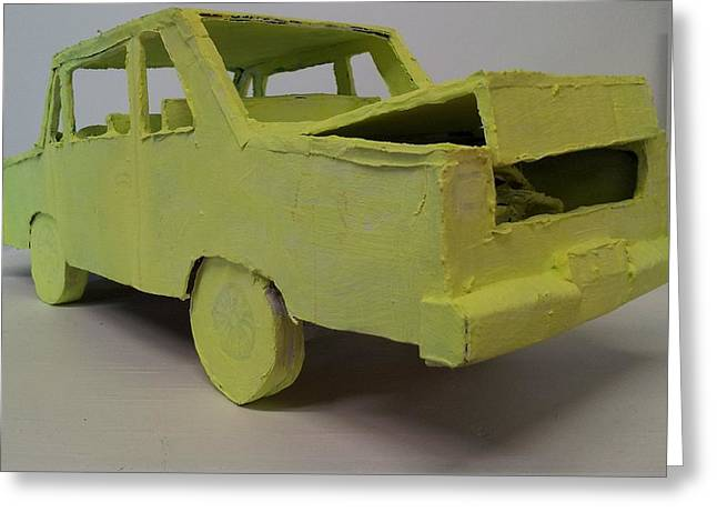 Science Fiction Sculptures Greeting Cards - Repo car Greeting Card by William Douglas