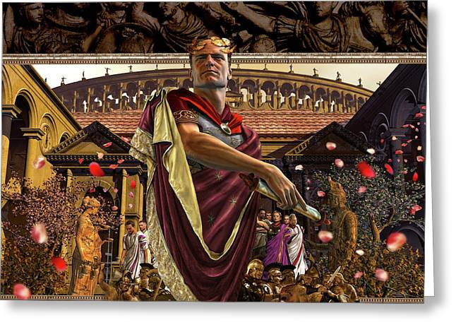 Republic Of Rome Greeting Card by Kurt Miller