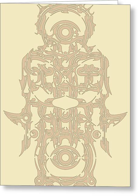Spiritual Art Reliefs Greeting Cards - Requiem VII Greeting Card by David Umemoto