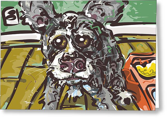 House Pet Drawings Greeting Cards - Rescued dogs are the best Greeting Card by Brett LaGue