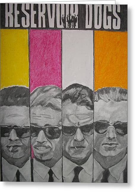 Death Proof Greeting Cards - Reservoir dogs Greeting Card by Christian Fralick