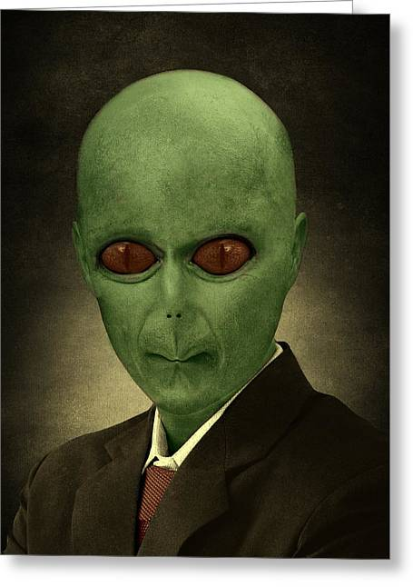 Resident Professor Of Interplanetary Research Area 51 Greeting Card by Movie Poster Prints
