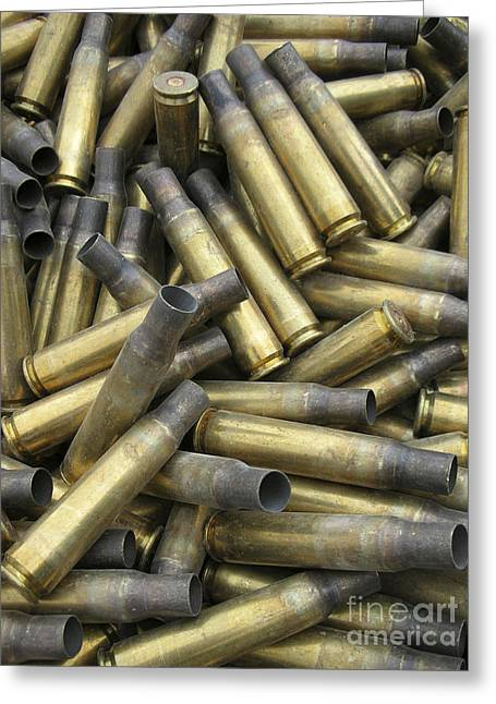 Ammo Greeting Cards - Residual Ammunition Casing Materials Greeting Card by Stocktrek Images