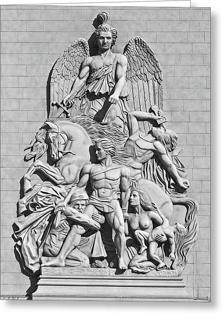 Sculpture Relief Greeting Cards - Resistance B-W Greeting Card by Christopher Holmes