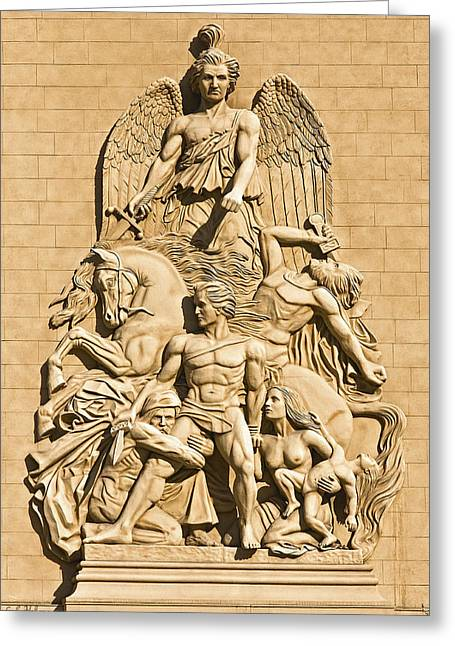 Relief Sculpture Greeting Cards - Resistance Greeting Card by Christopher Holmes