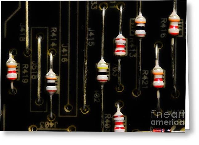 Resistor Photographs Greeting Cards - Resistors Greeting Card by Michael Eingle
