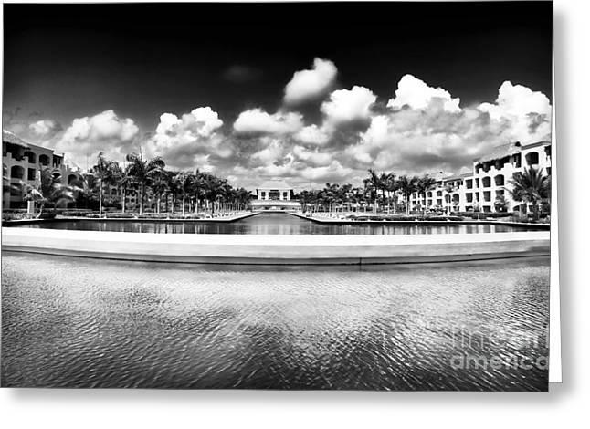 Resort View Greeting Card by John Rizzuto