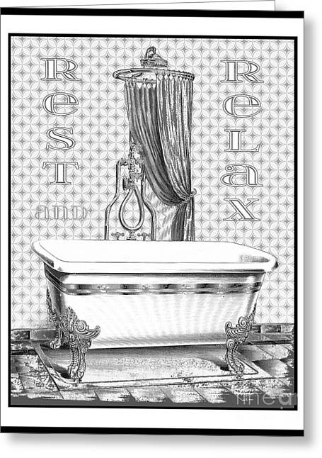 Faucet Paintings Greeting Cards - Rest and Relax-JP2685 Greeting Card by Jean Plout