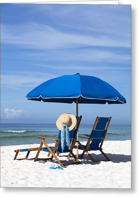 Emerald Coast Greeting Cards - Rest and Relaxation Greeting Card by Janet Fikar