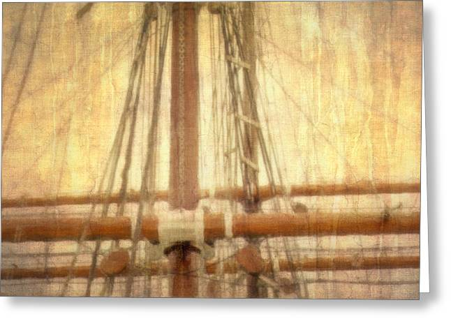 Masts Greeting Cards - Rest Ashore Greeting Card by Hal Halli