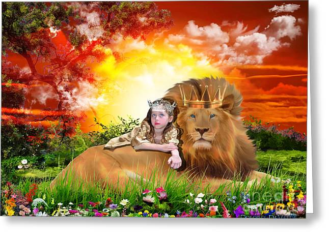 King Of Judah Greeting Cards - Rest Greeting Card by Dolores Develde