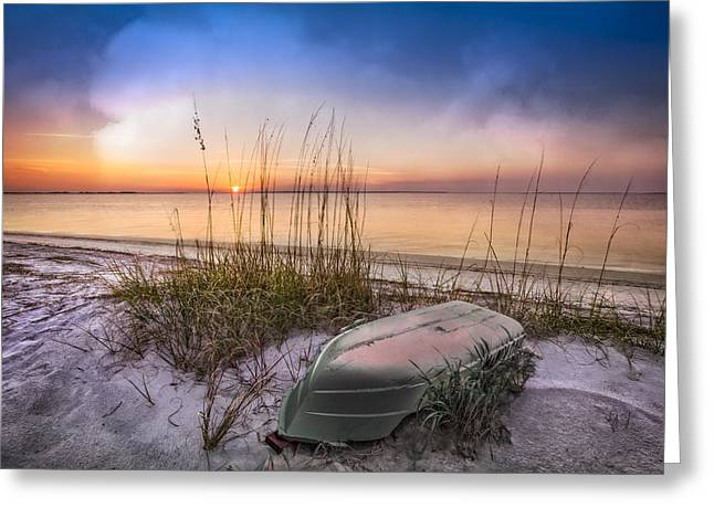 Sea Grasses On Sand Dunes Greeting Cards - Restful Dunes Greeting Card by Debra and Dave Vanderlaan