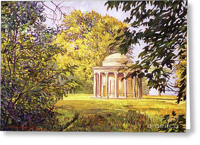 Mausoleum Greeting Cards - Restful Meadow Greeting Card by David Lloyd Glover