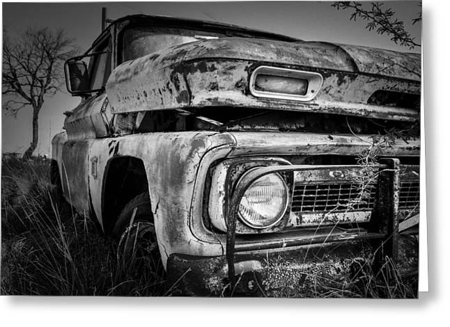 Barret Jackson Greeting Cards - Resting Chevy Greeting Card by Tim Singley