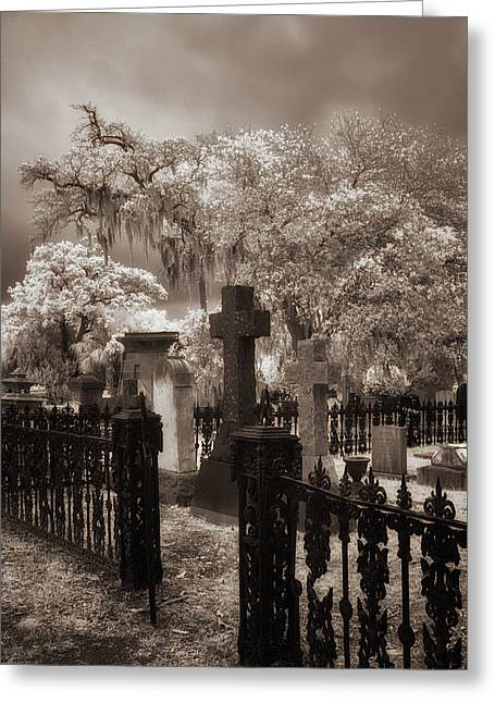 Grave Side Greeting Cards - Resting in Peace And Tranquility  Greeting Card by Cindy Archbell