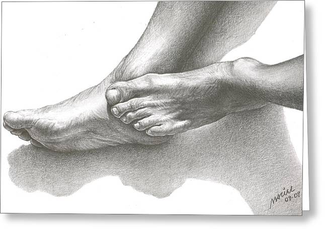 Foot Fetish Greeting Cards - Resting Greeting Card by Maciel Cantelmo