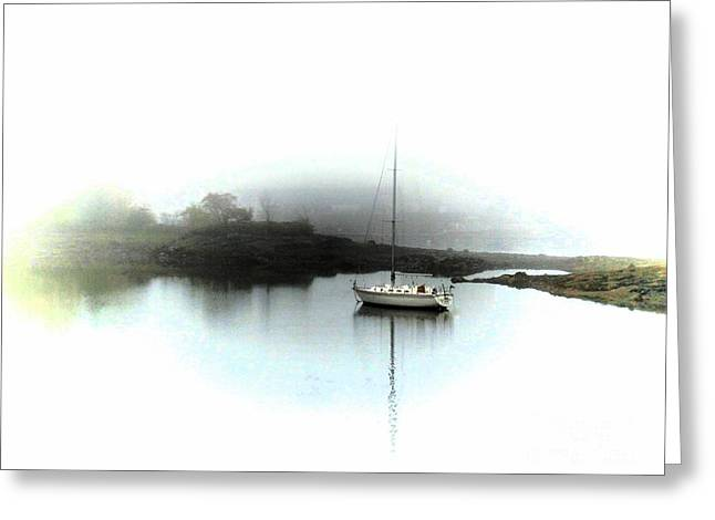 Blue Sailboats Greeting Cards - Resting Greeting Card by Marcia Lee Jones