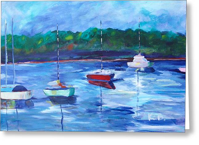 Sailboat Ocean Greeting Cards - Resting on the Pamlico Greeting Card by Kimberly Balentine