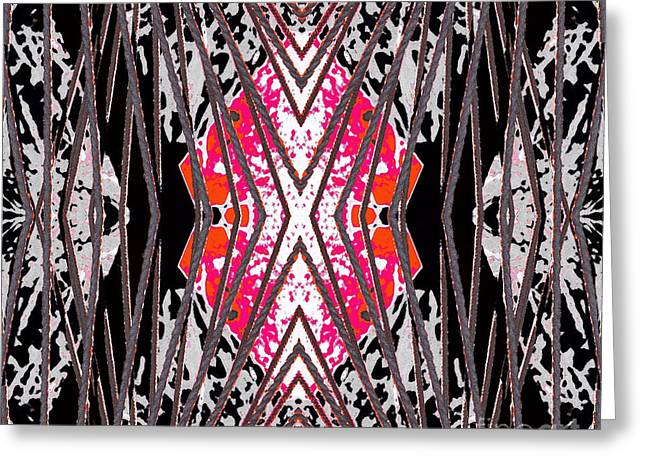 Pink Bedcover Greeting Cards - Restrained Greeting Card by Expressionistar Priscilla-Batzell
