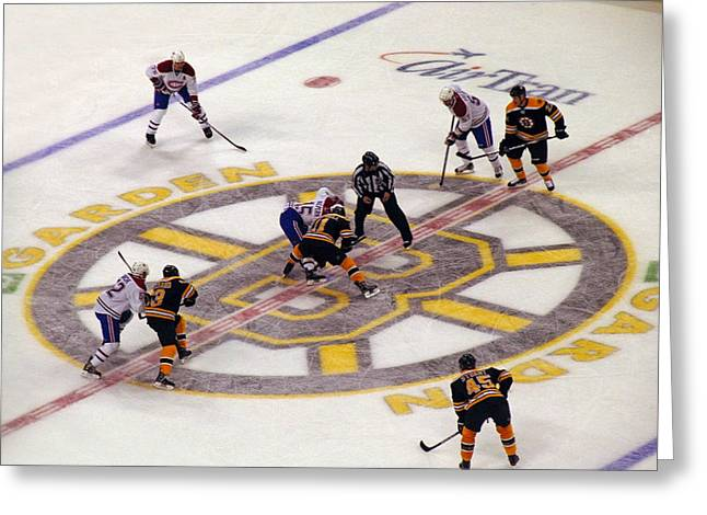 Boston Stadium Greeting Cards - Resume Game Greeting Card by Juergen Roth