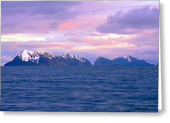 Portage Photographs Greeting Cards - Resurrection Bay And Kenai Fjords Greeting Card by Panoramic Images