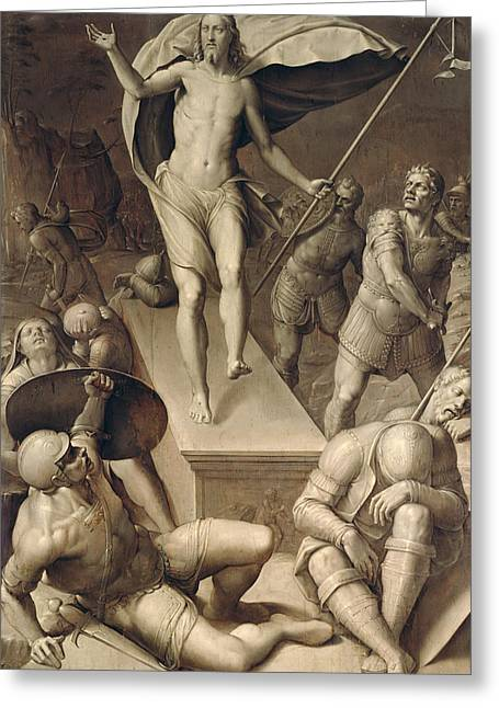 Resurrection Of Christ Greeting Card by Italian School