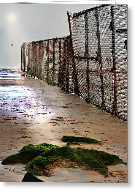 York Beach Photographs Greeting Cards - Retaining Wall Greeting Card by Diana Angstadt