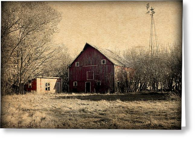 Painted Wood Photographs Greeting Cards - Retired 2 Greeting Card by Julie Hamilton