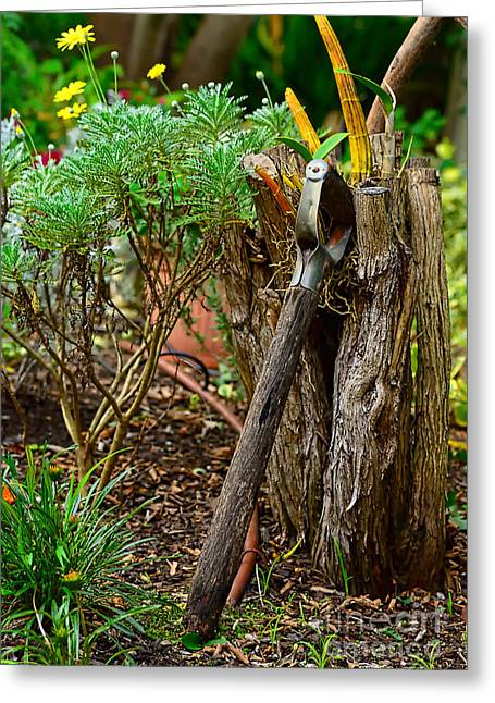 Spend Greeting Cards - Retired Spade Greeting Card by Kaye Menner
