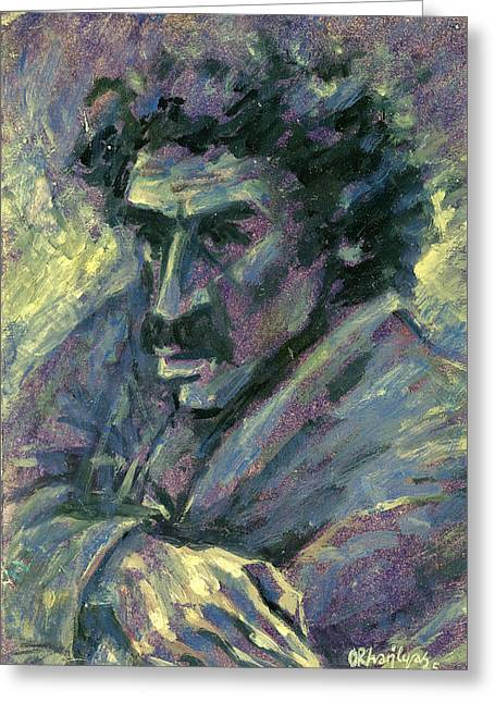 Vintage Painter Greeting Cards - Retrato Greeting Card by Orhan Ilyas