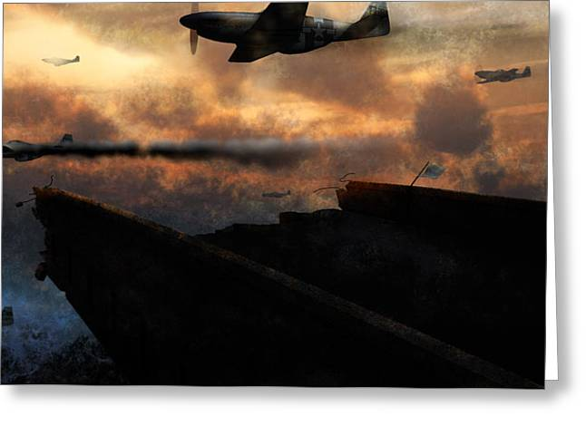 Ww11 Greeting Cards - Retreat Greeting Card by Ethan Harris
