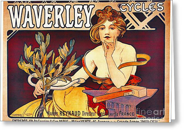 Retro Bicycle Ad 1899 Greeting Card by Padre Art