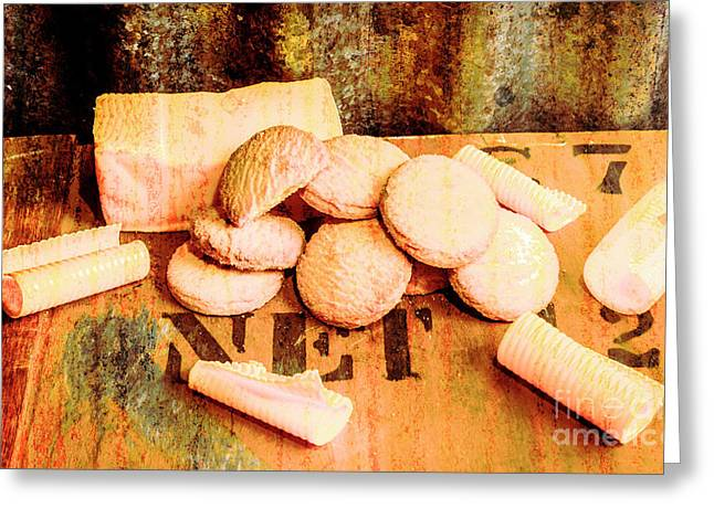 Retro Butter Shortbread Wall Artwork Greeting Card by Jorgo Photography - Wall Art Gallery