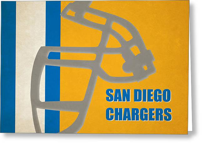 San Diego Chargers Greeting Cards - Retro Chargers Art Greeting Card by Joe Hamilton