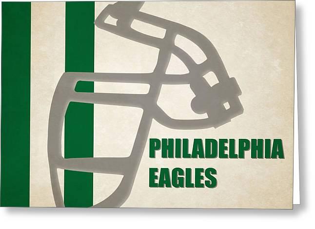 Philadelphia Eagles Greeting Cards - Retro Eagles Art Greeting Card by Joe Hamilton