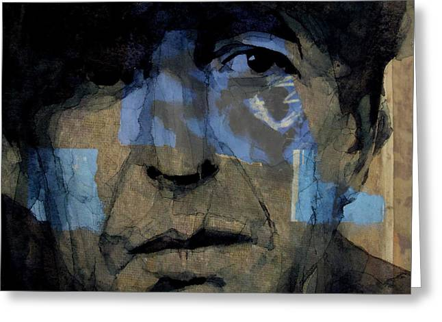 Retro- Famous Blue Raincoat  Greeting Card by Paul Lovering