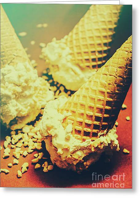 Retro Ice Cream Artwork Greeting Card by Jorgo Photography - Wall Art Gallery