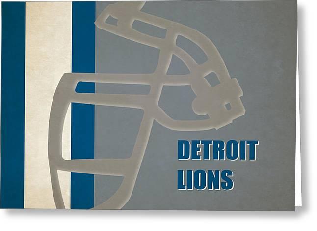Retro Lions Art Greeting Card by Joe Hamilton
