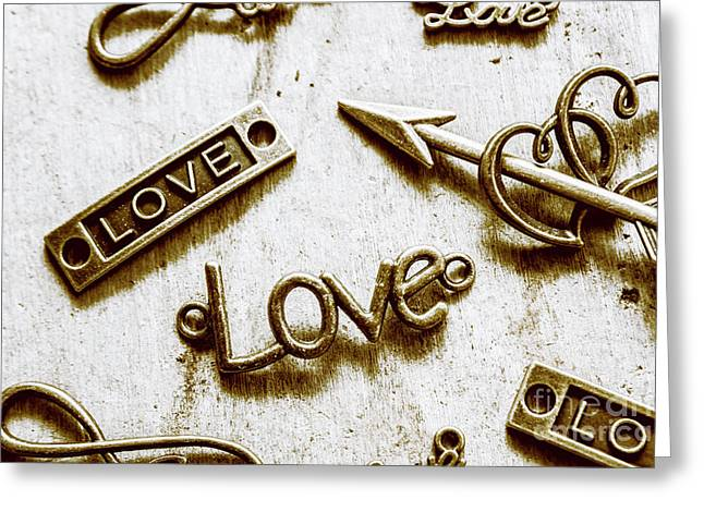 Retro Love Heart Jewels  Greeting Card by Jorgo Photography - Wall Art Gallery