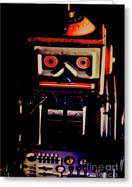 Retro Mechanical Robotics Greeting Card by Jorgo Photography - Wall Art Gallery