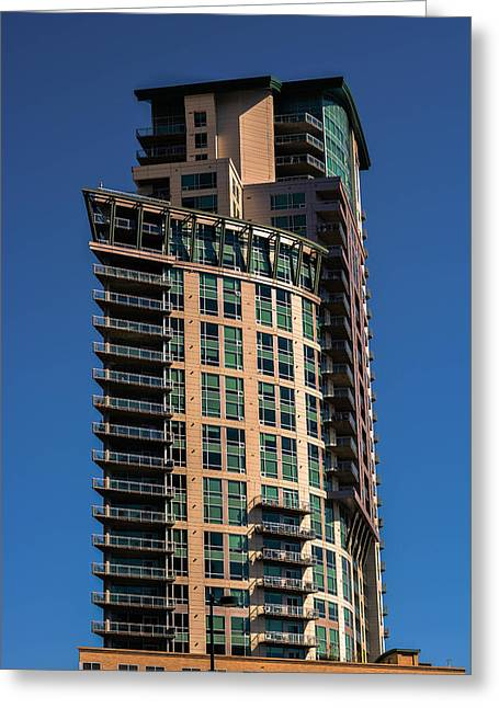 Out Of Shape Building In Denver Greeting Card by Gabriela Kuhni